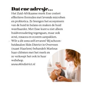 Skin District in Vrouw Telegraaf
